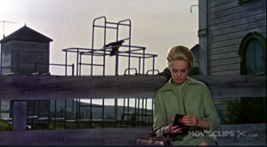 Tippi Hedren in Alfred Hitchcocks Die Vögel (1963). Screenshot: KM.