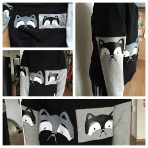 Racoon Shirt Collage