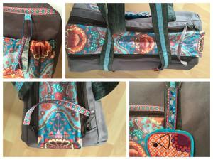 Taschenschnitt ElGrande von Farbenmix Stickdatei India von Bienvenido Colorido über Zaubermasche