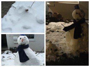 Schneemann Collage
