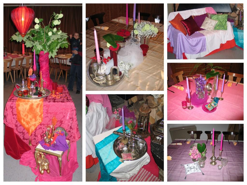 Hochzeit Deko Collage