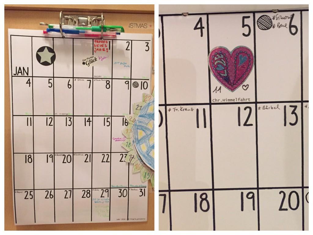 Kalender Collage