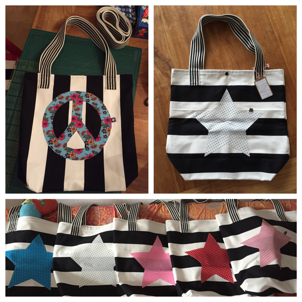 Einkaufstaschen Collage
